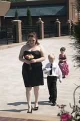 Maid of Honor, Ringbearer, Flowergirl (ellery_higgins) Tags: wedding ohio summer music hot price night digital photoshop canon fun happy photography rebel hall photo dance day married heather trevor picture marriage sunny tracy celebration reception adobe medina congratulations congrats xti cs5