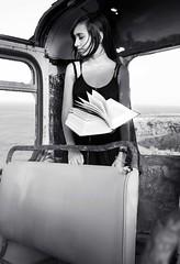 (Iraultza_Photos) Tags: black girl book magic dream libro levitation canarias autobus sueo gomera guagua magia abandonado oldbus levitacin pginas seaocean libroenelaire