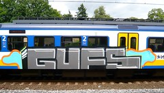Graffiti (oerendhard1) Tags: streetart netherlands train graffiti european steel vandalism 2008 railways trein traingraffiti spoorwegen paintedtrains railart