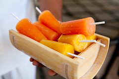 Greeted with papaya and mango popscicles at the entrance (thewanderingeater) Tags: mexico hotel resort loscabos presstrip loscabosmexico oneonlypamilla 5starluxuryhotel pamillaloscabosmexico 5starluxuryresort