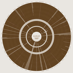 Gold - Medals at the Summer Olympic Games (b_willers) Tags: world chart london sport gold design graphic map events graph games medal diagram data info illustrator win olympic olympics visualization information vis vector infographic visualisation 2012 viz willers