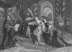 Apocrypha 88. The high priest comes to Judith. Judith cap 15 v 7. after Rubens. Phillip Medhurst Collection (Phillip Medhurst Bible Prints) Tags: print bibleillustration bible prints apocrypha bibleillustrations boltonmuseum bowyerbible phillipmedhurst