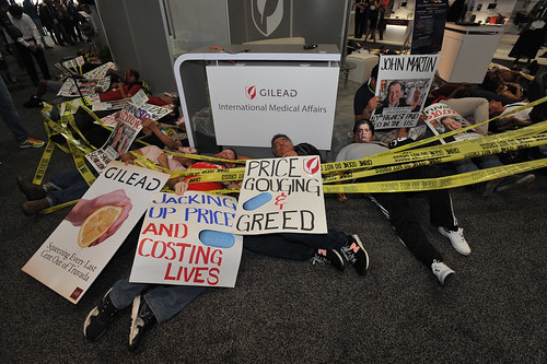 Protest at International AIDS Conference
