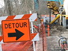 06 RTW While work is going on, a detour will be open around the work area. (CityofMorgantown) Tags: west wall work virginia construction crane rail trail wv morgantown drill retaining pave caperton