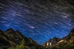 maroon bells star trails (tmo-photo) Tags: blue trees sky usa nature silhouette mystery night forest dark way stars dawn shiny long exposure heaven glow shine time dusk infinity space horizon deep twinkle astro sparkle galaxy astrophotography stunning planet astronomy universe exploration incredible milky cosmic starry cosmos astrology distant milkyway starlight starrynightsky