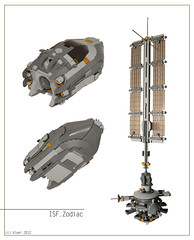 ISF Zodiac (bloei) Tags: design fighter ship lego space satellite contest nuclear science bomber spacecraft realworld moc contestentry bloei starfighter spacefighter