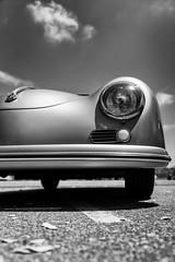 Autobahn 1954 (autobahn66.com) Tags: auto blackandwhite classic car clouds vintage silver germany deutschland automobile fifties stuttgart convertible autobahn chrome german porsche oldtimer speedster sportscar postwar lowperspective wirtschaftswunder nachkriegszeit kabrio