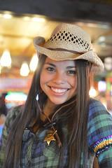 A new sheriff's in town (radargeek) Tags: amarillo texas tx thebigtexan steak ranch cowboy cowboyhat portrait smile