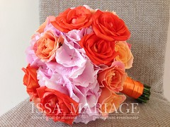 Buchet mireasa din hortensia si trandafiri corai (IssaEvents) Tags: buchet mireasa din hortensia si trandafiri cora issamariage issaevents bucuresti slatina valcea
