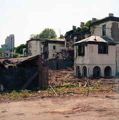 (.tom troutman.) Tags: bronica sqai film analog 120 6x6 mediumformat kodak ektar brooklyn nyc newyork navyyard abandoned demolition 80mm
