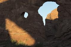 three windows Arches NP dm (chjsbny) Tags: turretarch archesnationalpark shadowofnorthwindow summer charlesjanson digimarc