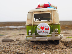 Peace.... (snappy chick1) Tags: vw campervan toycar miniature beach peace love photography