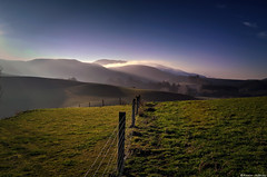 The hazy hills of home (Kevin_Jeffries) Tags: fence jeffries d90 nikon hills foothills nature misty fog