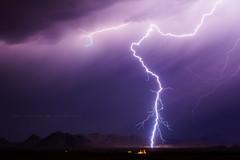 Gila Bend Mountains (Mike Olbinski Photography) Tags: 20160818 canon5dmarkiii arizona buckeyehills canon50mm12l lightning monsoon mountains rain stormchasing thunderstorm