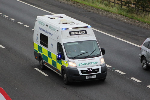M9 SF61 FFJ PEUGEOT BOXER SCOTTISH AMBULANCE SERVICE