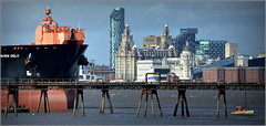 Tranmere Oil Terminal & Liverpool Skyline (Wirral Peninsula UK) 31st August 2016 (Cassini2008) Tags: wirral wirralpeninsula rivermersey portofliverpool tranmereoilterminal liverpoolskyline