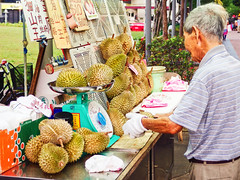 Durian, anyone? (edwin.canlapan) Tags: durian food singapore exoticfood