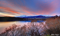 0S1A3026enthuse (Steve Daggar) Tags: newzealand sunset lake lakehayes winter mountains snowcappedmountains