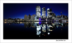 Daybreak of light (jongsoolee5610) Tags: sydneynight darlingharbour sydney australia night dawn city reflection daybreak