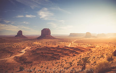 Monument Valley (stewartbaird) Tags: reservation usa unitedstates butte golden arizona america monumentvalley clouds