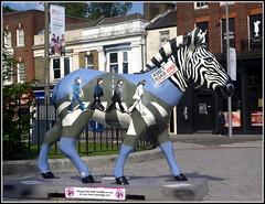 Zebby Road (Lotsapix) Tags: southampton hampshire zebra abbeyroad thebeatles streetart sculpture marwellzoo