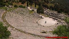 Archaeological site of Delphi - Ancient theatre (soyouz) Tags: delfi delphi grc grce delphes ruines grec patrimoineunesco phocis ancienttheatre grcela