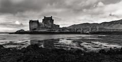 Eilean Donan Castle (GraemeMcDonough) Tags: eilean donan castle scotland highlands scottish bw blackandwhite landscape uk united kingdom