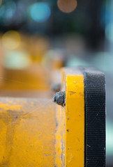 Train detail [explored 2016-09-05] (Maria Eklind) Tags: yellow planestrainsandautomobiles dof bokeh traindetail malmö dust macromondays makro macro centralstation depthoffield skånelän sverige se train