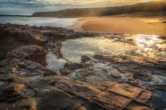 Can't turn back the tide (BlueberryAsh) Tags: august2016 cadillaccanyon panhandles phillipisland beach seascape sands sunset clouds reflections rocks ocean australia panhandlerocks nikond750 nikon24120
