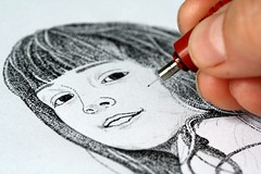 """Macro Mondays (Begins With) The First Letter of My Name - """"Drawing"""" (delphine.cury) Tags: beginswiththefirstletterofmyname macromondays drawing dessin encre de chine portrait"""