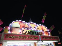 candy land (nikkivercetti) Tags: vsco a6 candyland carnival fair cotton candy food stand apples popcorn slush