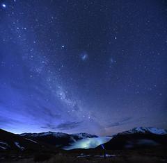 Stargazer (danhan27) Tags: astro astrophotography milky way stars night light headtorch glow cloud mountains dawn sky nz new zealand arthurs pass carroll hut doc ngc