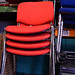 Fabric stacker chair €35