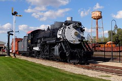 Mendota's Mikado (H-bob-omb) Tags: chicago burlington quincy route cbq steam locomotive 282 4978 mendota illinois union depot museum