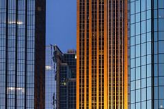 Layers of MPLS (Explore 7!) (Sam Wagner Photography) Tags: buildings downtown skyscrapers towers minneapolis minnesota skyline cityscape blue magic hour twilight color orange patterns shapes telephoto closeup