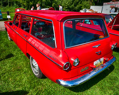 1961 Corvair Lakewood wagon (hz536n/George Thomas) Tags: riverside park orphans car show 2016 cs5 canon canon5d ef1740mmf4lusm michigan september summer ypsilanti carshow copyright chevy chevrolet corvair lakewood stationwagon wagon riversidepark orphanscarshow