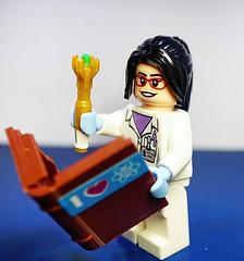 Selfie (Lego Biologist) Tags: lego selfie biology biologist science doctorwho