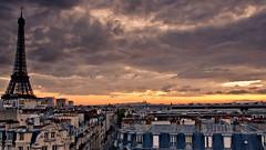 Paris view (Pierre Pertsekos) Tags: sky paris france eiffeltower roofs hdr