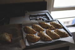 {119:366} (Sarah Jane (LovelyEmberPhotography)) Tags: light kitchen blog rainyday saturday link empanadas 366 sweetsavory applesandmangosinone beefintheother drearyweatherlight