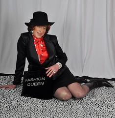 Make-over and photoshoot. (sabine57) Tags: drag tv boots crossdressing tgirl transgender tranny transvestite crossdresser crossdress stiefel transvestism