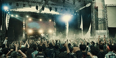 Seringai on stage 2 (syukaery) Tags: music festival rock metal indonesia concert audience stage extreme crowd band jakarta 1755mm seringai hammersonic
