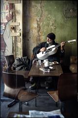 musician (patrickbraun.net) Tags: street white man berlin green wall guitar coat meinhausamsee fujifilmxpro1 fujinonxf35mmf14r