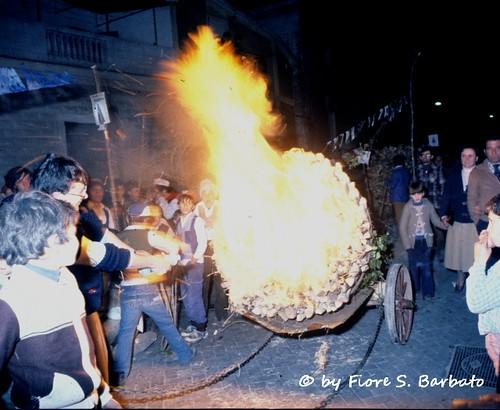 San Marco in Lamis (FG), 1979, la processione delle Fracchie.