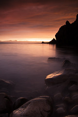 Sunset (Addi Viggs) Tags: longexposure sea clouds canon sunet cokin strandafjllin