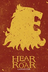 Lannister (richardsonad) Tags: game photoshop poster design lion illustrator thrones sigil baratheon sigils hearmeroar gameofthrones lannister songoficeandfire targaryen greyjoy