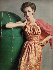 Mainbocher 1956 (BlueVelvetVintage.com) Tags: june dress style vogue dresses 1950s 50s mainbocher