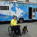 Dude and I in front of the relay media tour RV by tackeyist