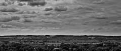 ENDLESS (Lars Hilse Photography) Tags: houses sky blackandwhite bw white black clouds barn germany farm himmel wolken weiss schwarz bauernhof schleswigholstein watchtower huser scheune dithmarschen weis aussichtsturm biogasanlage albersdorf larshilse