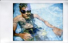 P (Lidz.) Tags: blue trees summer portrait green film water analog arboles brother piscina multipleexposure diana verano instant pau instax analogic dobleexposicion analogico instaxminifilm