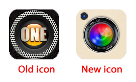 OneCam icon Old and New